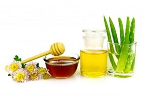 aloe vera, oil and honey