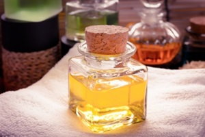 bottle of oil for skin care